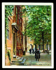 Cigarette Card - Pump Court, London by cigcardpix, via Flickr