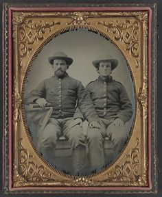 [Private Charles Chapman of Company A, 10th Virginia Cavalry Regiment, left, and unidentified soldier] (LOC) | Flickr - Photo Sharing!