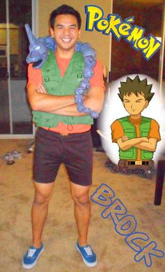 Brock from Pokemon with a prop Onyx - Halloween Props Crafts Costumes u0026 Make Up - Shaun Tuazon  sc 1 st  Pinterest & DIY Pokemon Costume For $20 - Halloween Costume For Kids | Pinterest ...