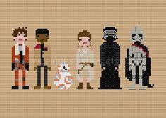 Star Wars The Force Awakens The Original por weelittlestitches