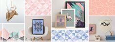 Loja de decoração online com quadros, posteres, placas decorativas, adesivos, luminárias, almofadas, capachos, bandejas. Tudo feito no Brasil.