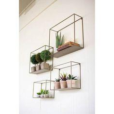 Metal Shelves, Set of Four