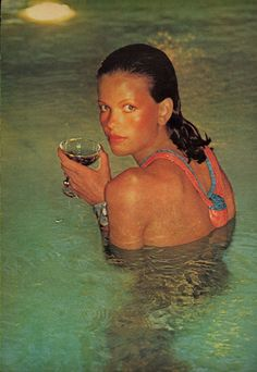 1974 The New Beach Dressing - Lisa Taylor, For US Vogue June. ~ Helmut Newton