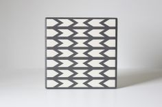 Gray Arrows Coaster Set | BRIKA - A Well-Crafted Life