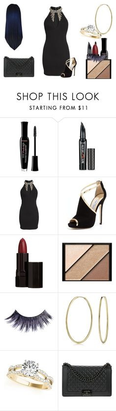 """Jada Cameron Fury On a Mission"" by shestheman01 ❤ liked on Polyvore featuring Bourjois, Benefit, LULUS, Jimmy Choo, Serge Lutens, Elizabeth Arden, Manic Panic NYC, Bling Jewelry and Chanel"