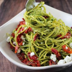 Kale Pesto Spaghetti with Goat Cheese « Little Leopard Book Little Leopard Book