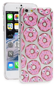 Free shipping and returns on SKINNY DIP Skinnydip 'Donut' Googly Eyes iPhone 6 Case at Nordstrom.com. Tiny little eyes set in sprinkle-covered donuts watch your every move while the transparent hard-shell case keeps your iPhone safe.