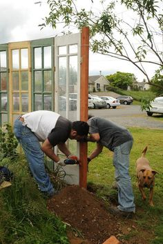 make removeable panels out of old french doors to glass in porch for winter