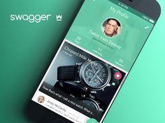 Swagger App - Profile Screen Mobile Ui Design, Ui Ux Design, Dashboard App, Ui Color, Mobile App Ui, Ui Design Inspiration, User Experience Design, Ui Web, User Interface Design