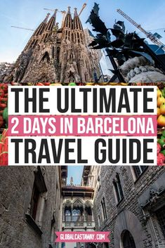 See the best way to spend 2 days in Barcelona | the best 2-day Barcelona travel itinerary | travel Barcelona in style and see the biggest landmarks #globalcastaway Barcelona Travel Guide, Europe Travel Guide, Europe Destinations, Spain Travel, Travel Guides, Best Beaches To Visit, Cool Places To Visit, Travel Around The World, Travel Inspiration