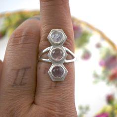 Triple Hex Ring by CarliMarieSita on Etsy, $310.00