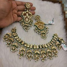 #jadau #kundan #choker with princess #dangler #earrings only @Rukmani Jewells... #silver based #metal with #highquality  #goldmicronplating embellished with #exquisite #traditional #meenakari backside #semiprecious #stones used. For more details or enquiry please call or whatsapp on +919327027130 or DM or drop in your number #indianwedding #indianbride #indiantraditionaljewellery