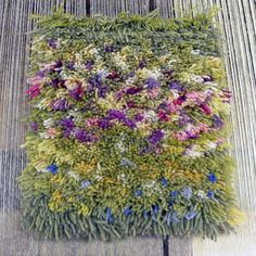 Rya Rug, Macrame Wall Hanging Diy, Latch Hook Rugs, Creative Textiles, Rug Hooking Patterns, Braided Rugs, Penny Rugs, Weaving Art, Monet