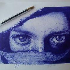 Incredible ballpoint sketch by @manouchehrrashidy (IG) Follow @artgully for more. #ArtGully