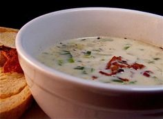 Red Lobster Clam Chowder from Food.com:   This is by far my favorite ever recipe for clam chowder.  I always replace my salad with a cup of this.  I was shocked that nobody had posted it.