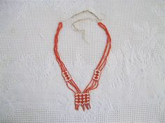 Antique Handmade Beaded Native American Necklace $40