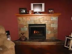 Stacked Stone With Wraparound Mantle And Crown Molding Fireplace Pinterest Mantle