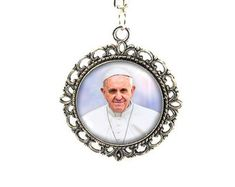 Pope Francis, Catholic Jewelry, Pope Francis Necklace, Pope Francis Jewelry, Christian Jewelry, Pope Necklace, Christian Necklace, Religious