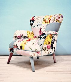 Was on the front page 7/23/13 @ 10:22pm      Floral armchair by namedesignstudio on Etsy, $1500.00