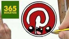 Isly bl rha h qki mne by kha Cute Easy Drawings, Cute Kawaii Drawings, App Drawings, Cartoon Drawings, Pinterest Logo, Kawaii App, Draw Logo, Social Media Art, Flower Doodles