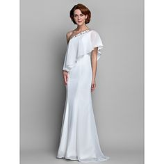 A-line One Shoulder Chiffon Mother of the Bride Dress (612485) – USD $ 179.99. dress is made to order. available for purchase at www.lightinthebox.com. the description for this dress says mother of the bride. yet, i think that this dress is more appropriate for the bride. whether it is a destination wedding (easy to pack) or a second marriage, I feel that this dress would be appropriate. also, the back has a structured pleating for those with flattering bottoms. great quality for the price.