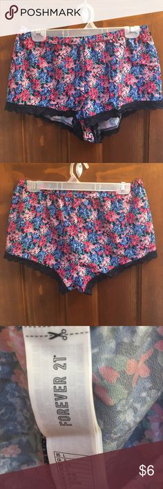 NWOT Forever21 Silky Pajama Shorts 15 inch elastic waistband 9 inch length. 19 inches in hips Forever 21 Intimates & Sleepwear Pajamas