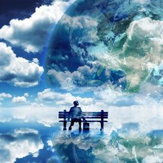 Bench In The Clouds iPad Wallpaper