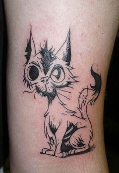 Jurg Poulycrock Tattoo, Bruxelles, Zombie cat