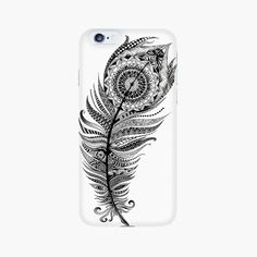 Zentangle Feather iPhone Case