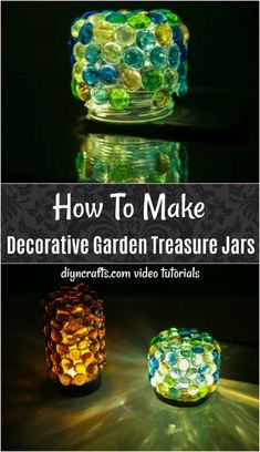 How To Make Decorative Garden Treasure Jars - Learn How To Make These Gorgeous Diy Treasure Jars For The Garden. The Video Tutorial Shows You How Easy It Is To Create These Stunning Jars. Take a stab at Making Your Own Decorative Garden Treasure Jars Baby Food Jar Crafts, Baby Food Jars, Mason Jar Crafts, Mason Jar Diy, Crafts For Teens To Make, Diy And Crafts, Adult Crafts, Kids Diy, Decor Crafts
