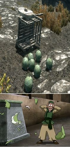 skyrim and Avatar when cabbages are funny. This is exactly what I thought when I saw this! Too Funny!!!