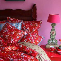 Original pip studio chinese rose duvet set red