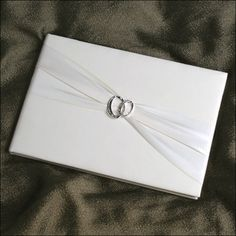 Guest Book - With This Ring - White
