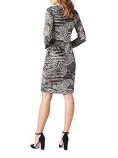 Pleat Print Dress