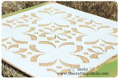 How to stencil cork board - make a stencil elective and show your collection all in one