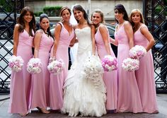 I like the neckline and shoulders of the bridesmaid dresses