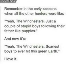 Respect the Winchesters!  #Supernatural