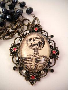 skeleton, gothic, and fashion image