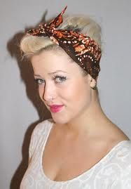 perfect hair for this headscarf - silk pattern i think