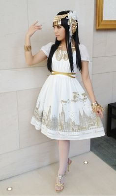 Moitie's Silent Moon OP in white x gold.  I own the JSK in black x white, but this would be lovely too *_*