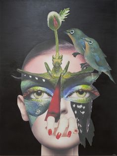 "Saatchi Online Artist: Erikka Bahnsen; Other, Assemblage / Collage """"Zen warrior"""""