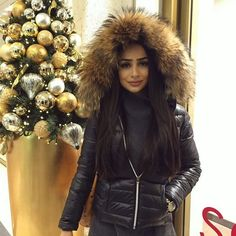 """my lovely jacket is from @welovefurs_com """