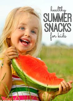 Summer is here - and you'll be ready for your hungry kids with these simple and healthy summer snacks for kids. I especially love #7!