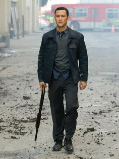 "Joseph Gordon-Levitt portrays John Blake in the movie ""The Dark Knight Rises""......"