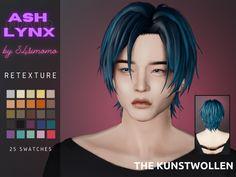 S4simomo Ash Lynx hair retextured Sims 4 Hair Male, Sims Hair, Male Hair, Sims 4 Cc Eyes, Sims 4 Mm Cc, Sims 4 Mods Clothes, Sims 4 Clothing, Los Sims 4 Mods, Sims 4 Anime