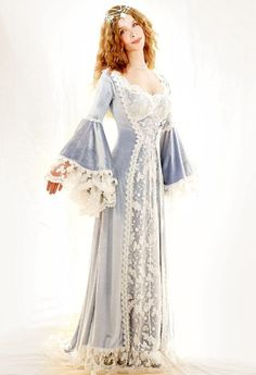 Medieval and Celtic Wedding Gowns | Custom Storybook Wedding Gowns | Canadian, Maritime, Fairytale | Faerie Brides | Star Jeweled Gown - Colour