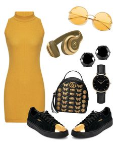 """""""Untitled #10"""" by sowos on Polyvore featuring Gucci, Puma, West Coast Jewelry and ROSEFIELD"""