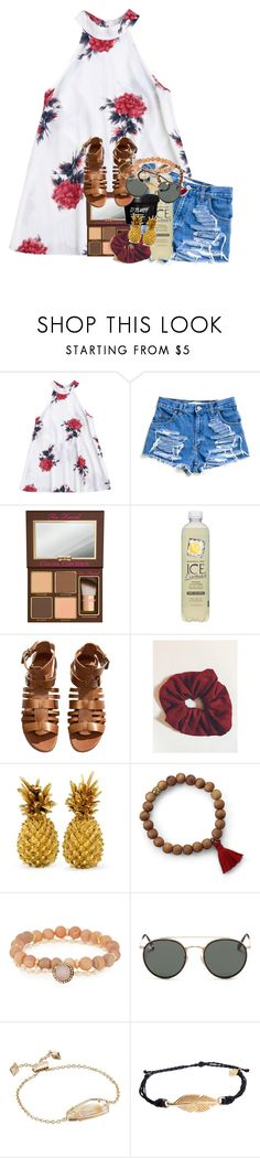 """deciding to love yourself instead of the idea of others loving you is an amazing decision."" by ellaswiftie13 on Polyvore featuring Too Faced Cosmetics, H&M, Panacea, Ray-Ban, Kendra Scott and Pura Vida"