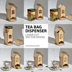 #Tea bag #dispenser V1.1 http://cartonus.com/tea-bag-dispenser/