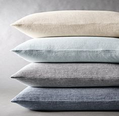 RH's Woven Linen Chambray Duvet Cover:FREE SHIPPINGInspired by 17th-century hand-loomed textiles, our linen chambray bedding combines classic character with relaxed elegance. Washed to a buttery-soft finish, the linen becomes even softer with use. Single-stripe shams add a distinctive, tailored finish.